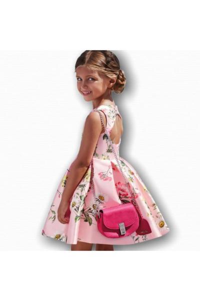 لباس مجلسی دخترانه شیک و جدید برند Abel & Lula رنگ صورتی ty93684417