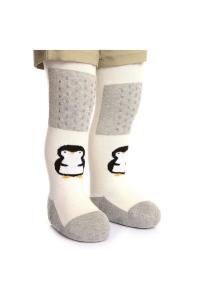 جوراب بچه گانه پسرانه زیبا برند HelloBaby رنگ نقره ای کد ty94101971