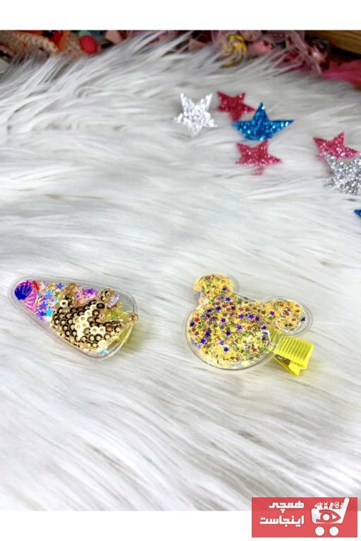 اصل زیورآلات مو بچه گانه دخترانه برند Tinystar رنگ زرد ty94856147