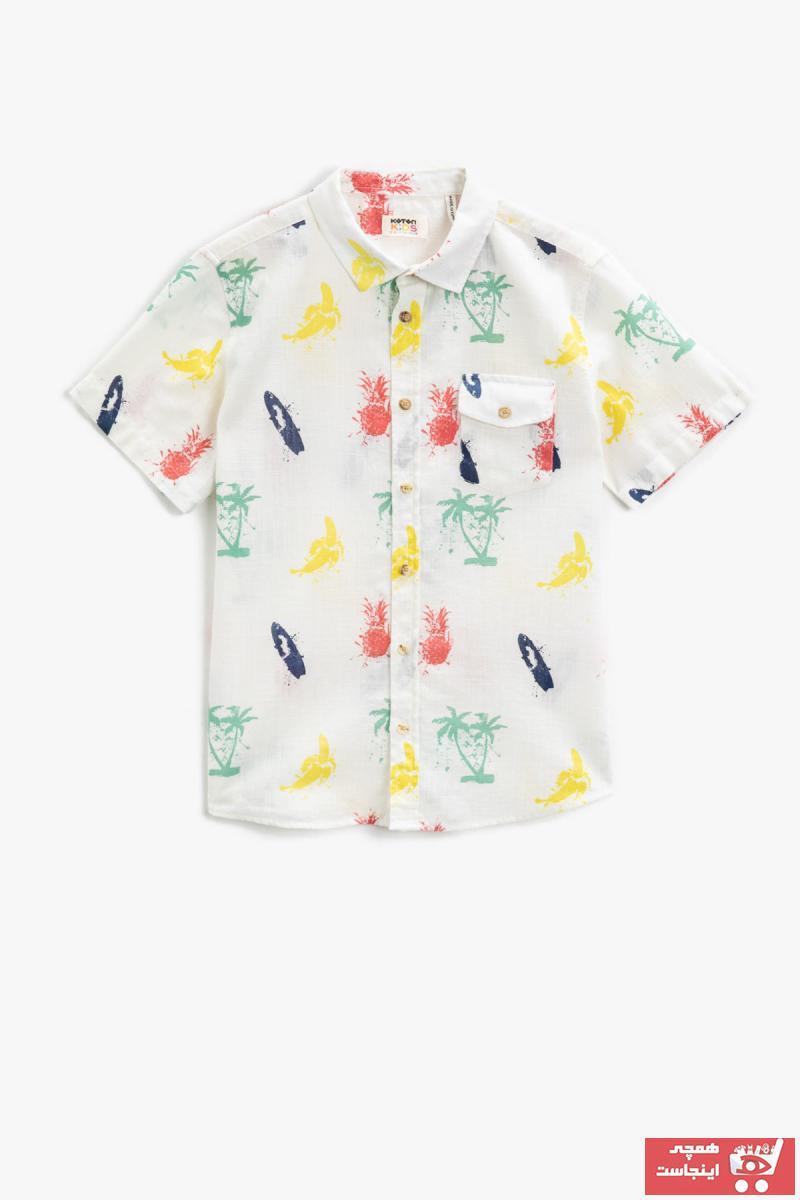 پیراهن پسرانه نخی برند کوتون رنگ مشکی کد ty95175249