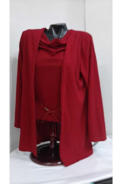 سفارش ژاکت بافتی زمستانی زنانه برند Cansın Butik رنگ قرمز ty95878777