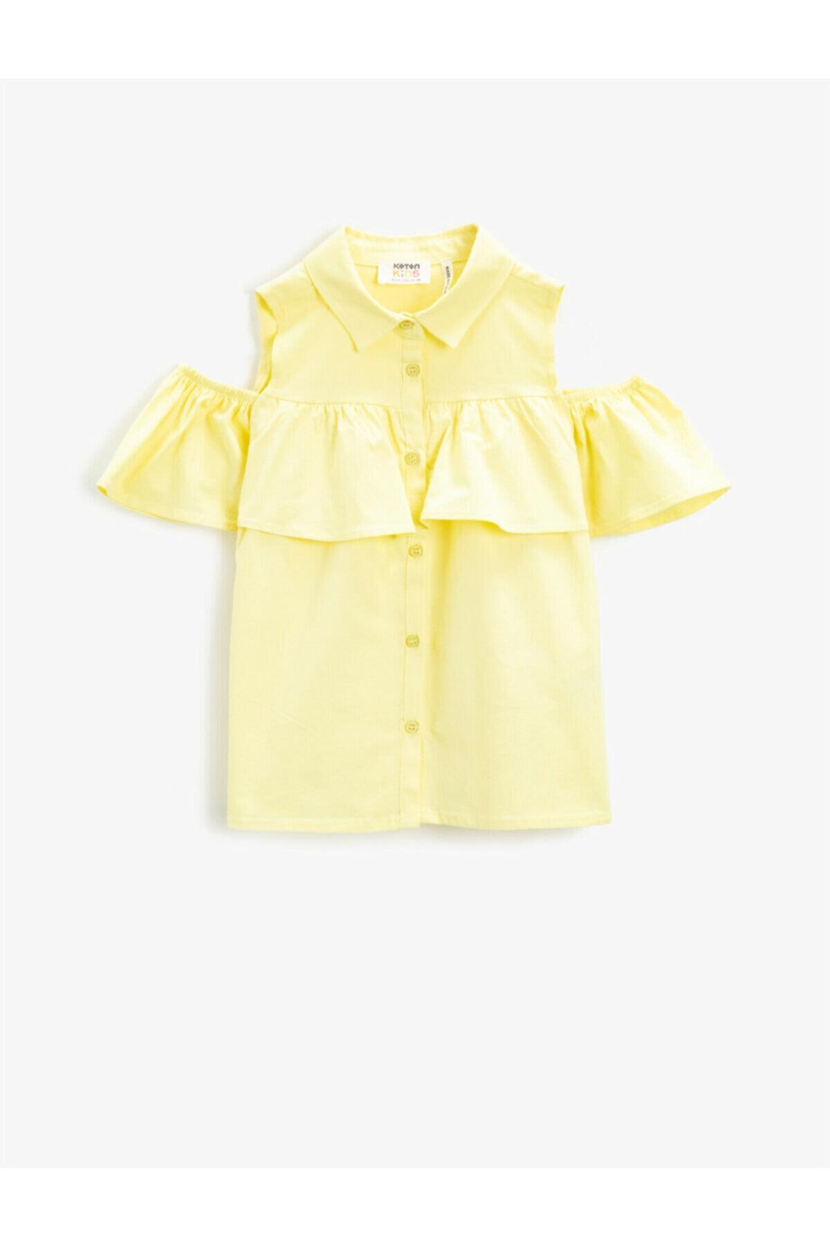 شومیز نوزاد دختر کوتاه برند کوتون رنگ زرد ty96132598