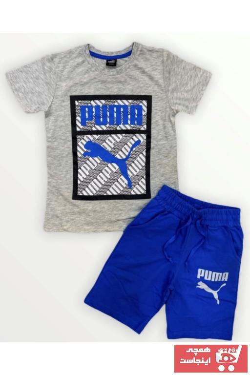 ست لباس پسرانه برند Puma رنگ نقره ای کد ty97006075
