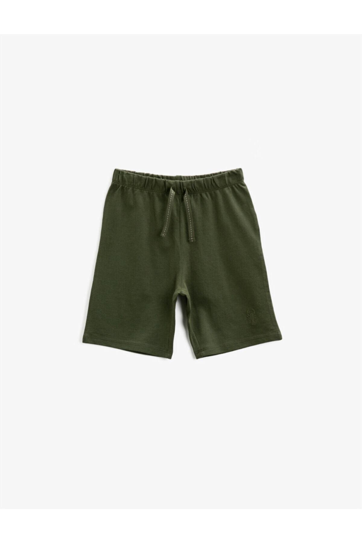 شلوارک فانتزی پسرانه برند کوتون رنگ سبز کد ty98333953