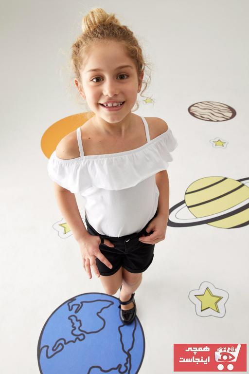 خرید انلاین شلوارک زیبا دخترانه برند دفاکتو رنگ مشکی کد ty99996732